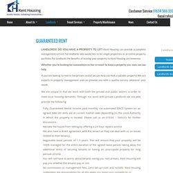 Landlords Guaranteed Rent