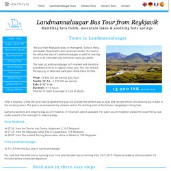 Bus tours to Landmannalaugar from Reykjavik with Landmannalaugar Tours