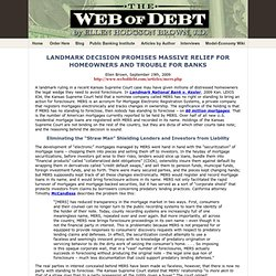 Web of Debt - LANDMARK DECISION
