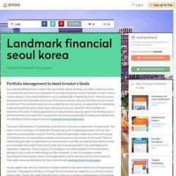 Landmark financial seoul korea