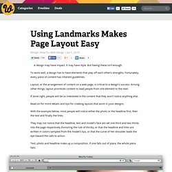 Using Landmarks Makes Page Layout Easy