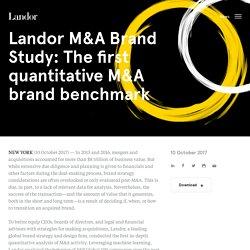 M&A Brand Study: The first quantitative M&A brand benchmark