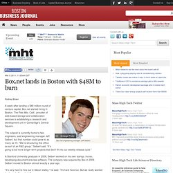 Box.net lands in Boston with $48M to burn