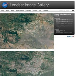 Landsat Image Gallery - Nairobi Swells with Urban Growth