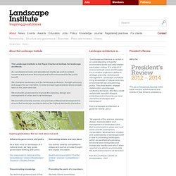 Landscape architecture and the Landscape Institute