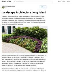 Landscape Architecture Long Island