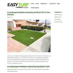 4 Landscape Issues Fixed by Artificial Turf in San Antonio