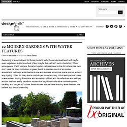 Landscape Design Ideas: Modern Garden Water Features