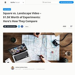 Square Video vs. Landscape Video - $1.5K Worth of Experiments: Here's How They Compare