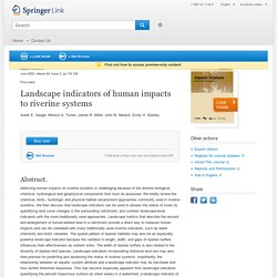 Landscape indicators of human impacts to riverine systems