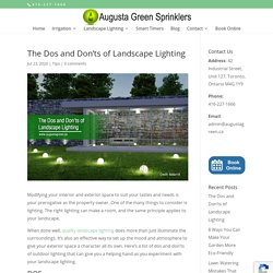The Dos and Don'ts of Landscape Lighting
