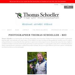 Artist bio/New England based fine art scenic landscape photographer Thomas Schoeller
