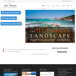 Landscape Photography Tips, eBooks & Workshops by Jay Patel | Home