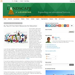 The Landscape: My Top 25 Free Math Resources for Education