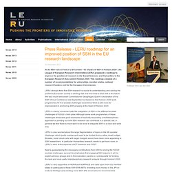LERU roadmap for an improved position of SSH in the EU research landscape