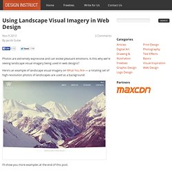 Using Landscape Visual Imagery in Web Design