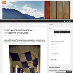 Felice Varini: Landscapes of Perspective and Illusion | Johnston Architects