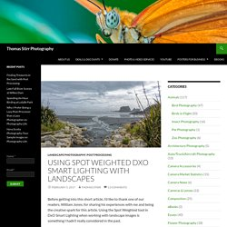 Using Spot Weighted DxO Smart Lighting with Landscapes - Thomas Stirr Photography