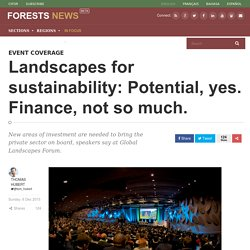 Landscapes for sustainability