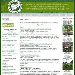 ELA Events « Ecological Landscaping Association