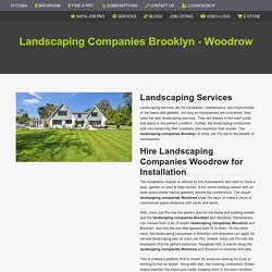 Landscaping Companies Woodrow