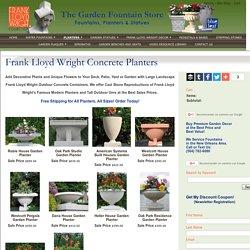 Frank Lloyd Wright Concrete Planters