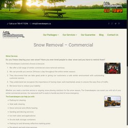 Commercial Snow Removal and Landscaping Services in Edmonton