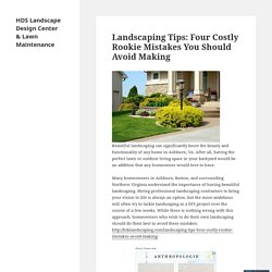 Landscaping Tips: Four Costly Rookie Mistakes You Should Avoid Making
