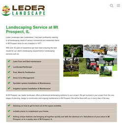 Landscaping Service Mt Prospect, IL