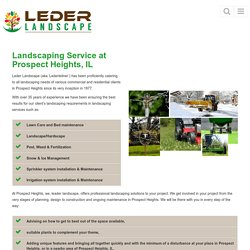 Landscaping Service Prospect Heights, IL