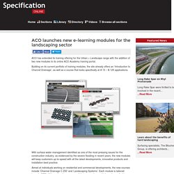 ACO launches new e-learning modules for the landscaping sector