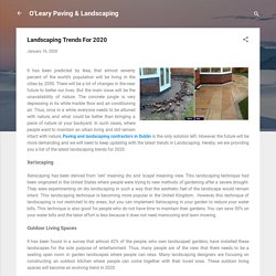 Landscaping Trends For 2020