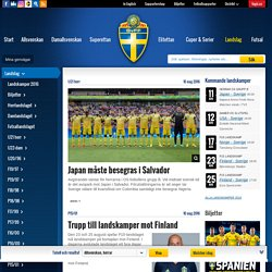 Landslag — svenskfotboll.se