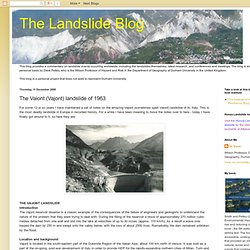 The Landslide Blog: The Vaiont (Vajont) landslide of 1963