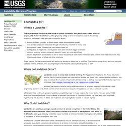 Landslides 101 USGS