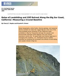 Rates of Landsliding and Cliff Retreat Along the Big Sur Coast, California—Measuring a Crucial Baseline