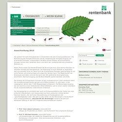 Landwirtschaftliche Rentenbank: Ausschreibung 2013