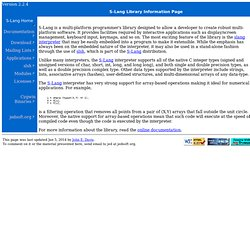 S-Lang Library Information Page