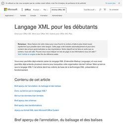 Langage XML pour les débutants - Support Office