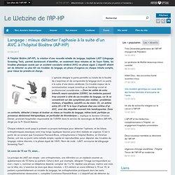 Langage : mieux détecter l'aphasie à la suite d'un AVC à l'hôpital Bicêtre (AP-HP)
