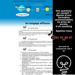 Le langage - Un langage efficace