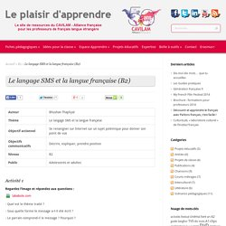 Niveau B2– Le langage SMS et la langue française