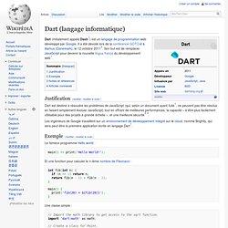 Dart (langage informatique)