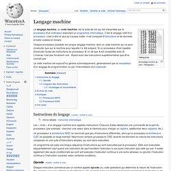Langage machine