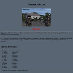 Langage militaire