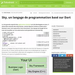 Sky, un langage de programmation basé sur Dart