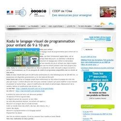 Kodu le langage visuel de programmation pour enfant de 9 à 10 ans