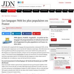 Les langages Web les plus populaires en France