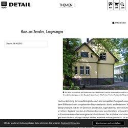 Haus am Seeufer, Langenargen - DETAIL.de - das Architektur- und Bau-Portal