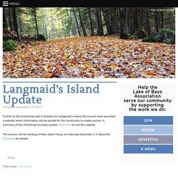Langmaid's Island Update